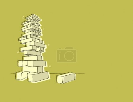 Tower Of Blocks Illustration