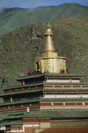 Foto de Monasterio de Labrang en xiahe, china - Imagen libre de derechos