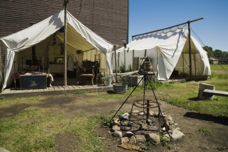 Historical Campsite In Fort Edmonton, Alberta
