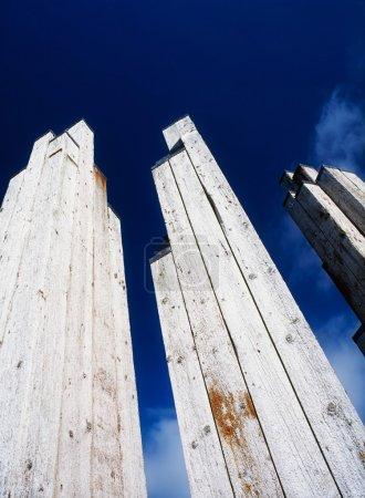 Sculpture From Timber Piles, Derry Quay, Derry City, Ireland