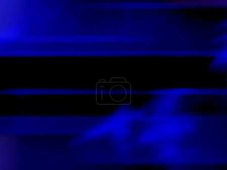 Abstract With Bright Blue And Black Lines