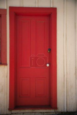 Red Door Of House
