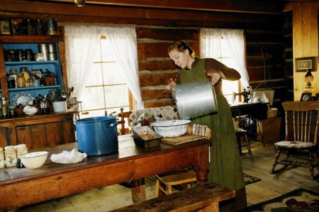 Historical Kitchen In Fort Edmonton, Alberta