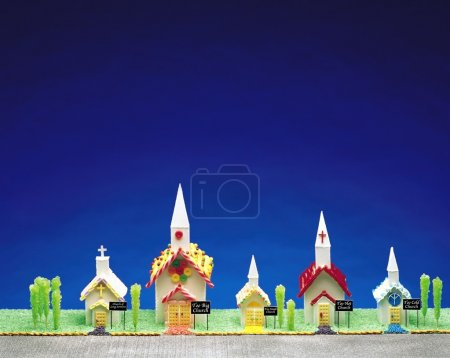 Candy Churches On A Candy Street