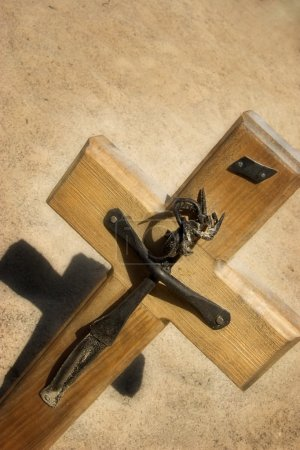 Cross With Metal Formation Of Jesus