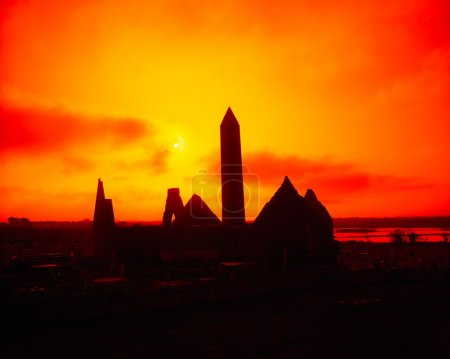 Kilmacduagh Round Tower, Gort, Co Galway, Ireland