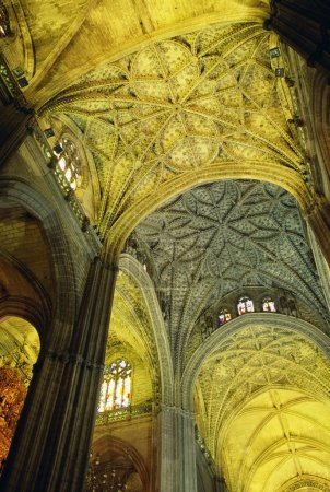 Vaulted Ceiling Of Seville Cathedral