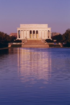 The Lincoln Memorial And The Reflecting Pool In Washington, Dc