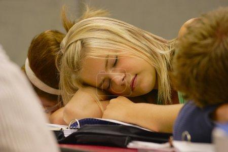 dormir à l'école