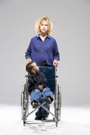 Mother And Child In Wheelchair