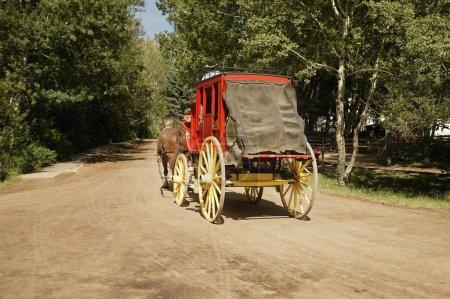 Horse-Drawn Carriage In Fort Edmonton, Alberta