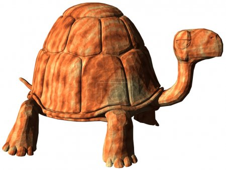 Computer Generated Cartoon Turtle