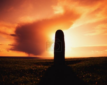 Lia Fail Standing Stone, Hill Of Tara, County Meath, Ireland