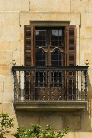 A Balcony In Elorrio, The Basque Country, Spain