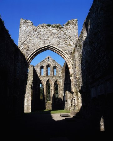 Co Down, Grey Abbey, Estab. 1193, On Strangford Lough, Ireland