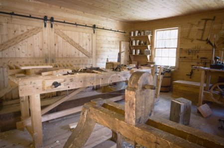 Fort Edmonton, Alberta, Canada, Old Woodworking Workshop