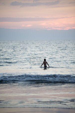 Person In The Water. Puerto Vallarta, Mexico