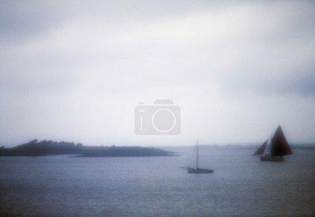 Near Kinvara, Co Galway, Ireland, Galway Hooker, Traditional Boats