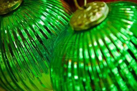 Photo for Two Christmas Balls - Royalty Free Image