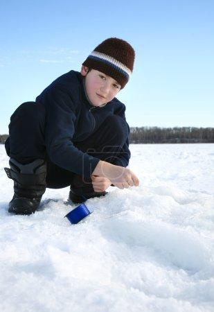 Boy Ice Fishing