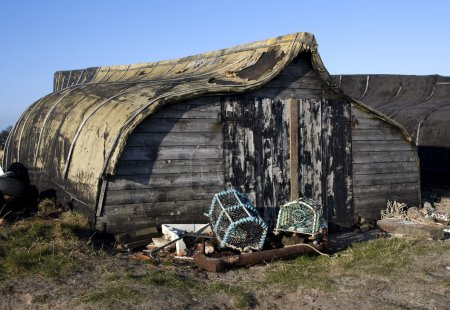 Old Barn With Lobster Traps