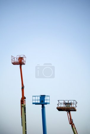Group Of Boom Lifts
