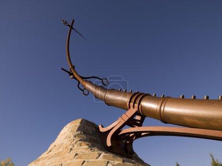 Skulptur an den Gabeln, winnipeg, manitoba, canada