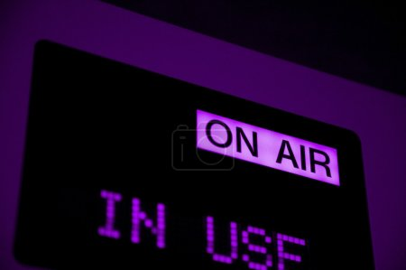 On Air Sign In Television Studio