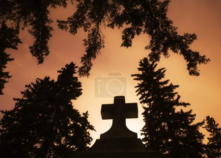 Photo for Cross Silhouette - Royalty Free Image