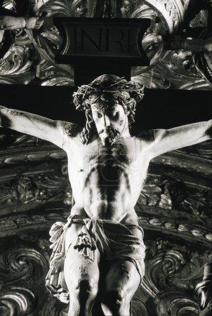 Crucifix In Saint Francis Church, Evora, Portugal
