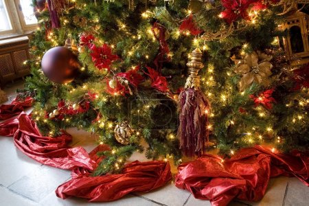 Photo for Decorations On A Christmas Tree - Royalty Free Image