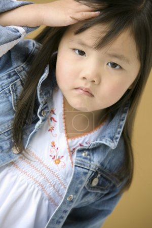 Young Girl Frowning