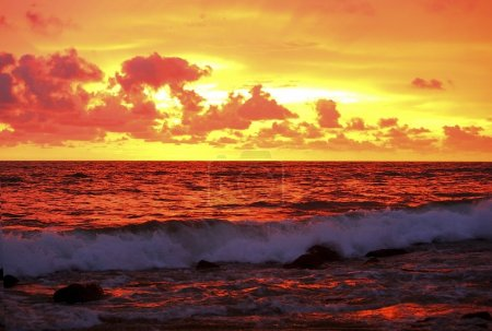 Sunset On The Ocean In Mazatlán, Mexico