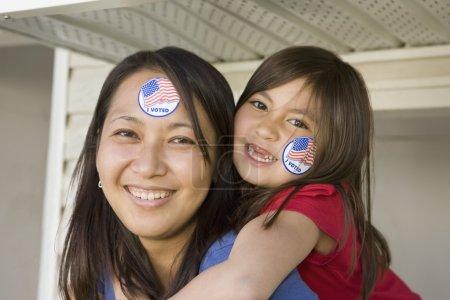 Photo pour Portrait de la mère et la fille - image libre de droit