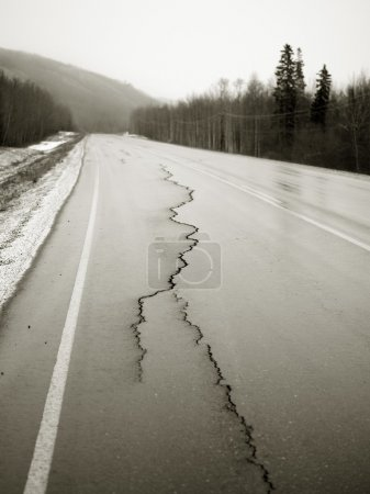 Road With Cracks