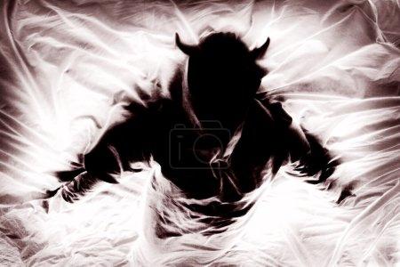Silhouette Of Figure Representing Evil...