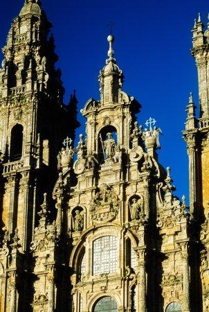 Detail Of Santiago De Compostela Cathedral, Galicia, Spain