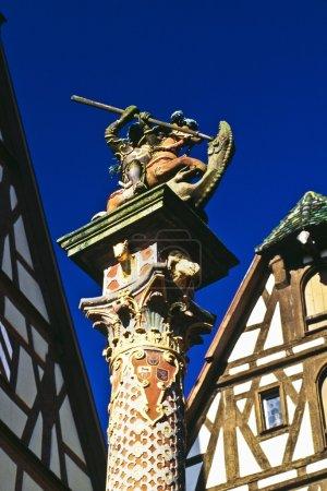 Foto de Estatua en rothenburg ob der tauber, ruta romántica, Alemania - Imagen libre de derechos
