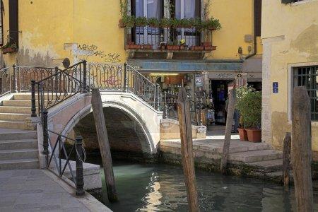Bridge In The Backstreets Of Venice, Italy