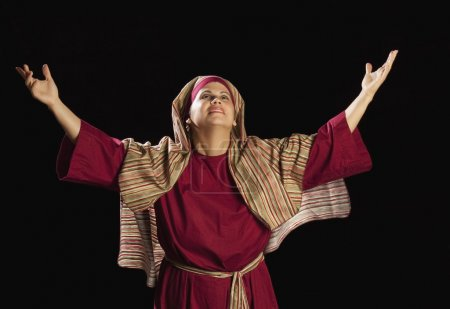 Woman Dressed As Mary, Mother Of Jesus