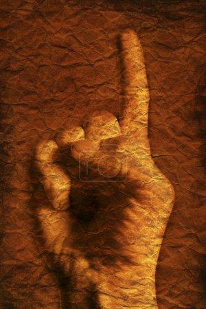 Photo pour Pointe du doigt - image libre de droit