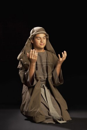 Boy Portraying A Young Jesus...