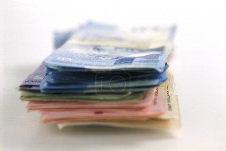 Photo pour Pile de monnaie canadienne - image libre de droit