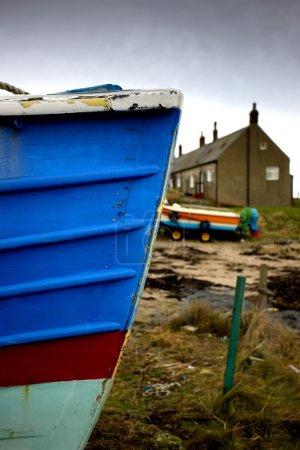 Weathered Boat Hull, Boulmer, Northumberland, England