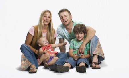 Photo pour Famille depuis les années 70 - image libre de droit