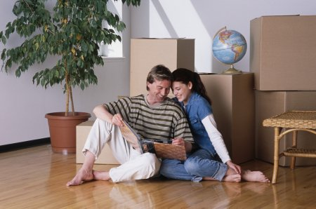 Young couple had just Moved
