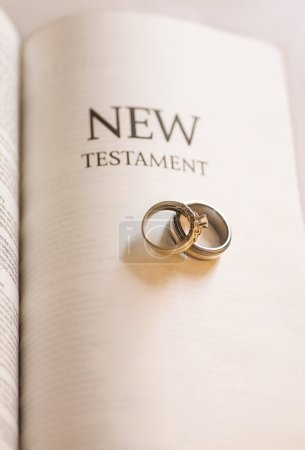 New Testament And Wedding Rings