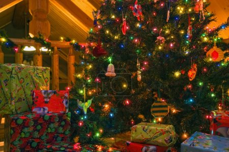 Photo for Christmas Tree And Gifts - Royalty Free Image