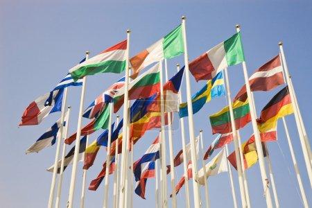 Photo pour Groupe de drapeaux de pays internationaux - image libre de droit