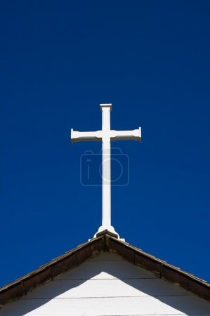 Cross On Steeple Of Church